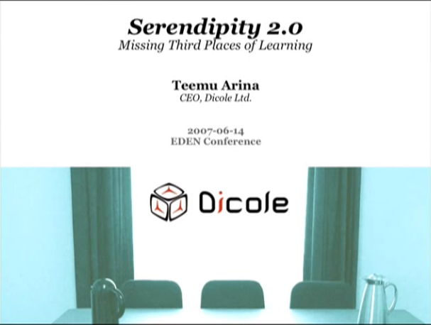 video Serendipity 2.0: Missing Third Places of Learning